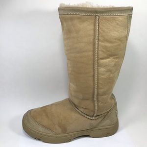 Ugg Ultimate Tall Sand Leather Boots 6